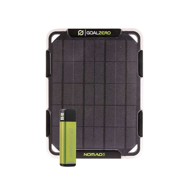Goal Zero Nomad 5 Solar Panel with Flip 12 Charger
