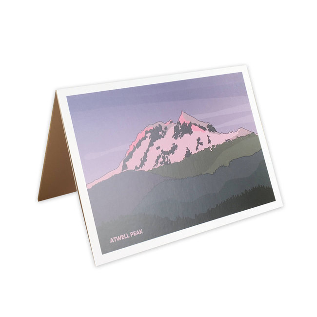 Jade Littlewood Design Atwell Peak Greeting Card