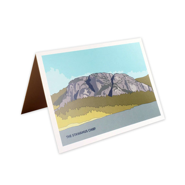 Jade Littlewood Design The Stawamaus Chief Greeting Card