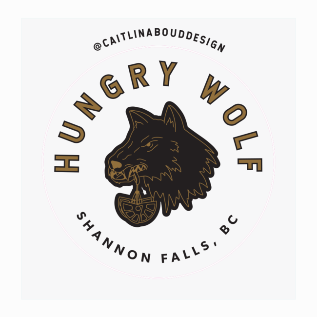 Caitlin Aboud Design Sticker Hungry Wolf Squamish Multi-Pitch