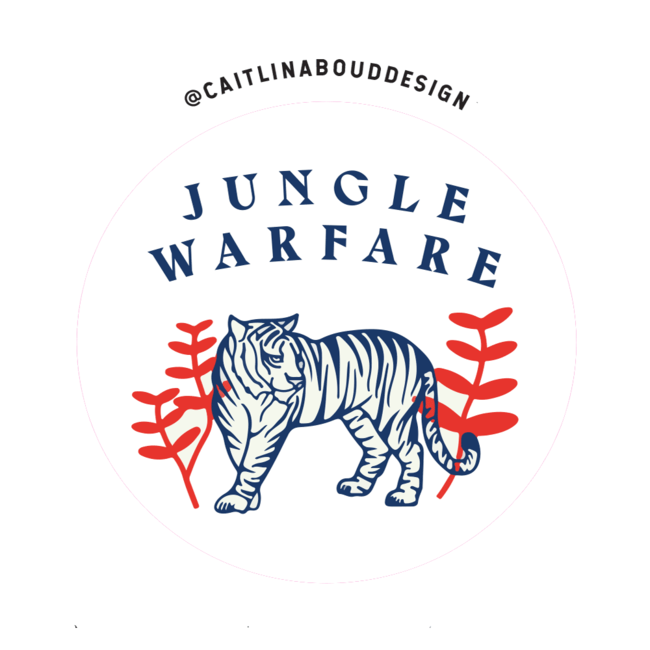 Caitlin Aboud Design Sticker Jungle Warfare