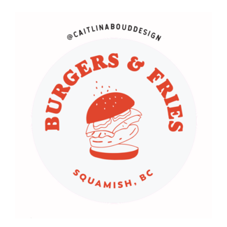 Caitlin Aboud Design Sticker Burgers & Fries