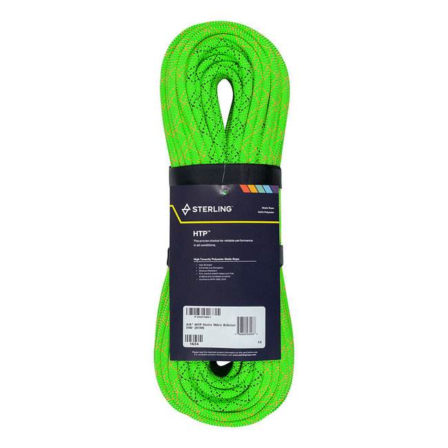 """Sterling Rope 3/8"""" (10mm)  HTP Static Rope BiColour"""