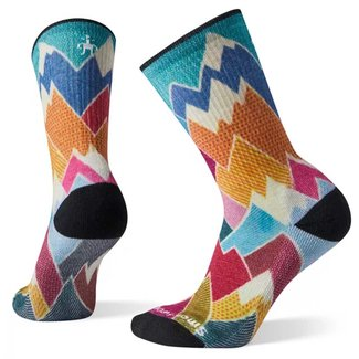 Smartwool Hike Light Mountain Print Crew Socks