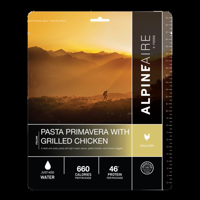 AlpineAire Foods Pasta Primavera with Grilled Chicken