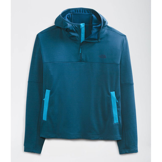 The North Face Men's Wayroute Pullover Grid Fleece Hoodie