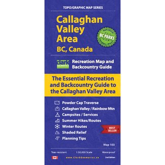 Clark Geomatics Callaghan Valley Map 2nd Edition