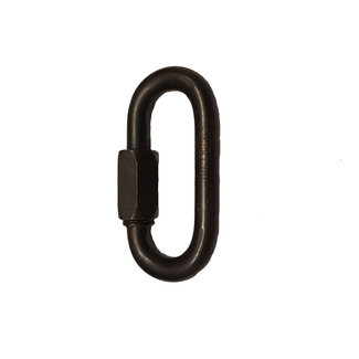 """9mm (3/8"""") Oval Quick Link Stainless Steel Black"""