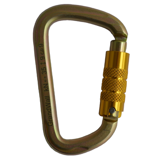 Grandwall Equipment Zion Triple Action Keylock Nose Steel Carabiner