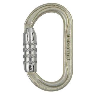 Petzl Oxan Oval Steel Carabiner Triact Lock