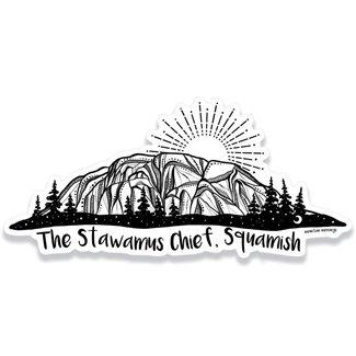 Mountain Mornings Stawamus Chief Sticker