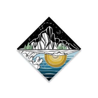 Mountain Mornings Mountain Sticker