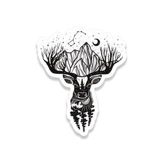 Mountain Mornings Deer Sticker