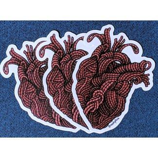 Rope Heart Sticker