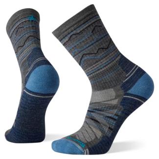 Smartwool Men's Hike Light Cushion Mountain Range Pattern Crew Socks