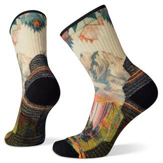 Smartwool Women's Hike Light Cushion Mountain Print  Crew Socks