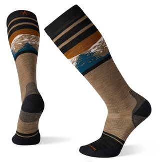 Smartwool Men's Performance Snow Targeted Cushion Pattern Over The Calf Sock