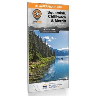 Squamish, Chilliwack, & Merritt BC Map