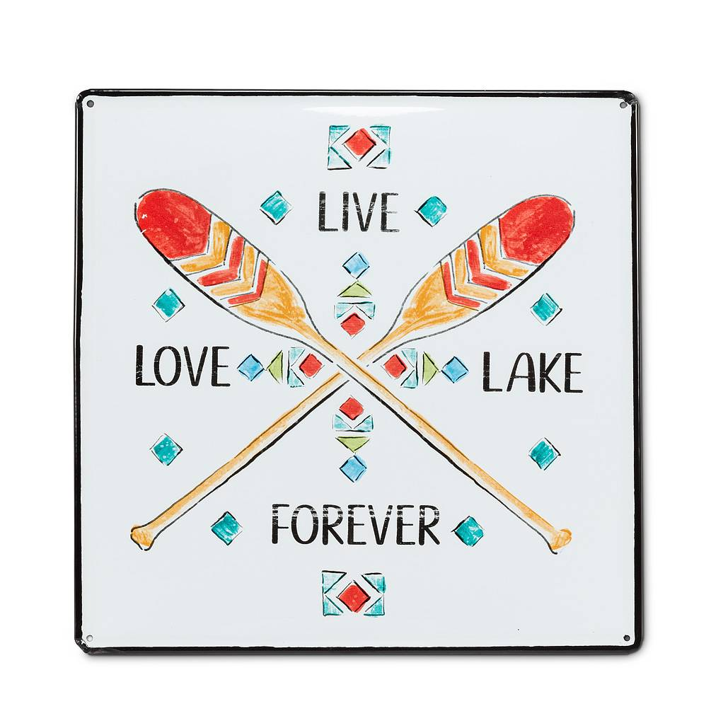 Live, Love, Lake Metal Sign