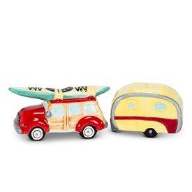 Woody Car & Camper Salt & Pepper Set
