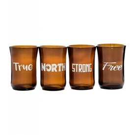 True North Tumblers (Set of 4) - Brown Glass