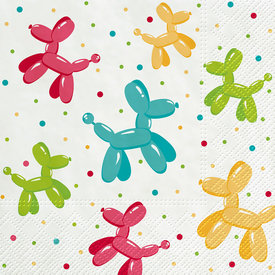 Balloon Dogs Paper Luncheon Napkin Set of 20