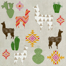Llama Paper Luncheon Napkins Set of 20