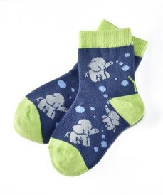 Yo Sox Elephant Fun - Shoe Size 4-7, Age 1-2