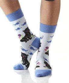 Yo Sox - Cat & Fish - Ladies Crew Socks