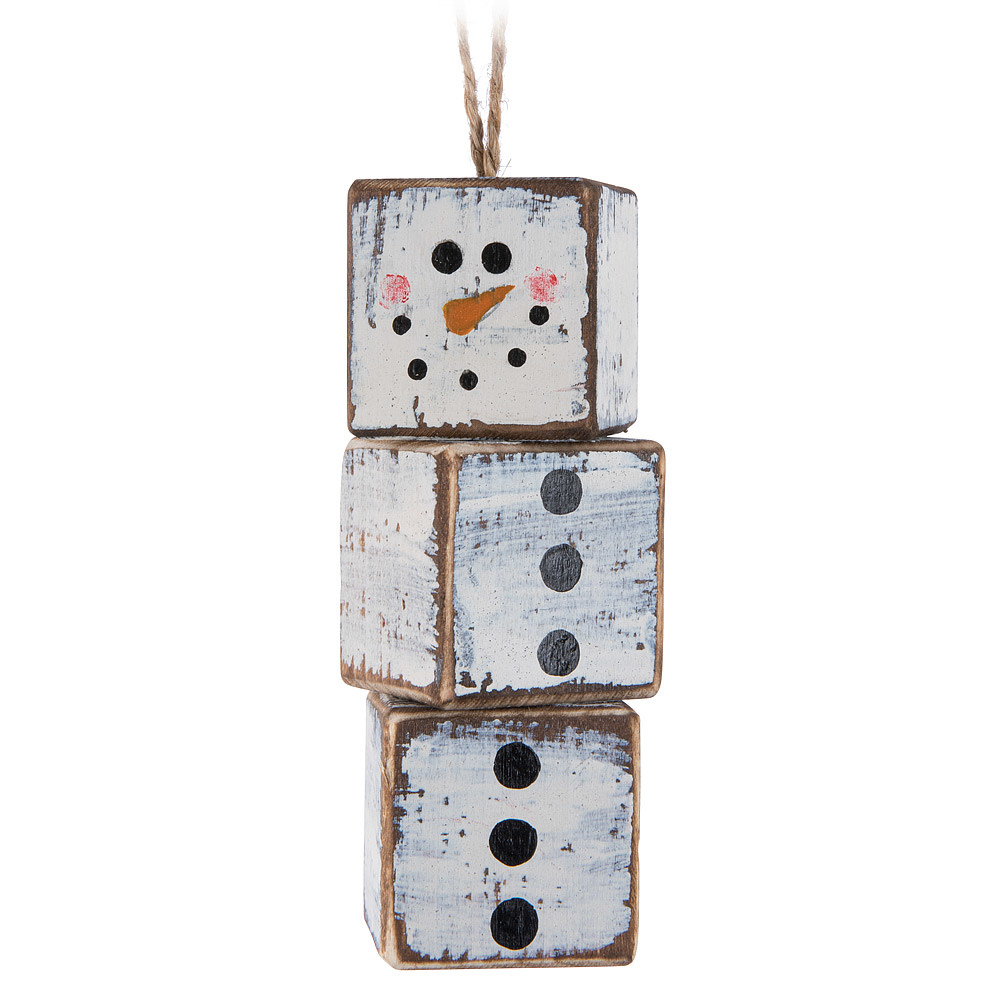 Triple Cube Snowman Ornament The Pebble Tree