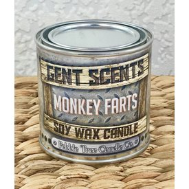 Gent Scents Soy Wax Candles Monkey Farts - Gent Scents Soy Wax Candle