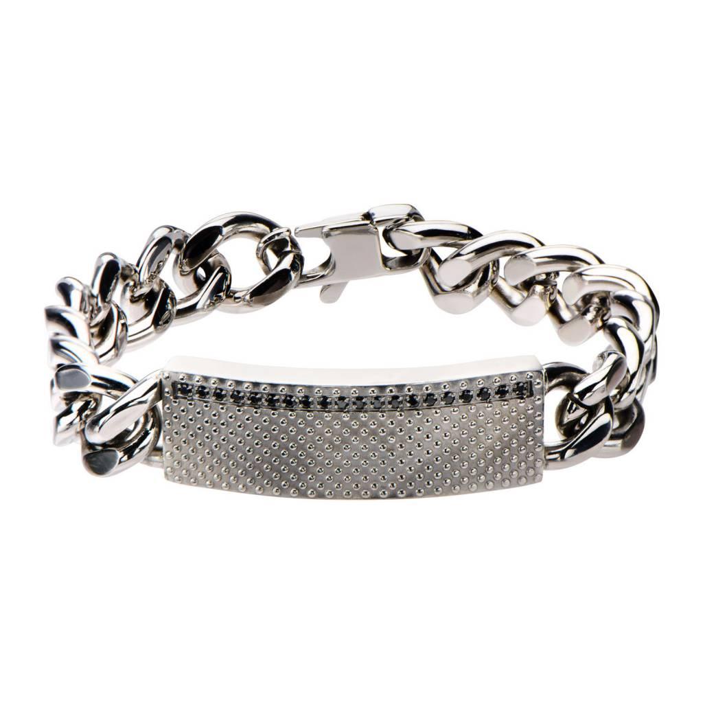 Inox Stainless Steel Jewelry Stainless Steel Curb ID Chain Bracelet - BRRA128
