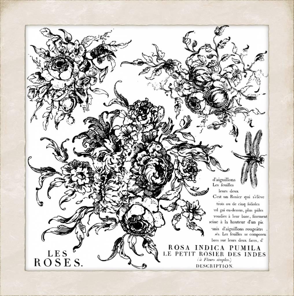 Iron Orchid Designs Iron Orchid Designs - Rose Toile Decor Stamp - DEC-STA-ROS