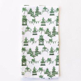 Pagoda Green Tea Towels, Set of 2