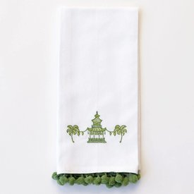 Pagoda Green Embroidered Fingertip