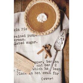 Heirloomed Pumpkin Pie Tea Towel, Oatmeal Linen
