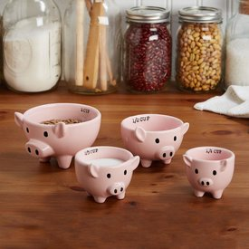 Pig Measuring Cups