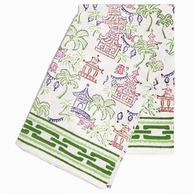 Pagodas & Palms Tea Towels