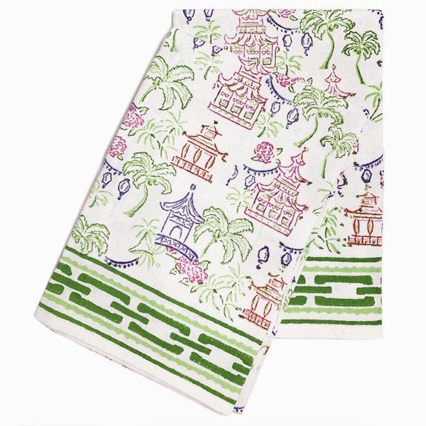 Pagodas & Palms Tea Towels