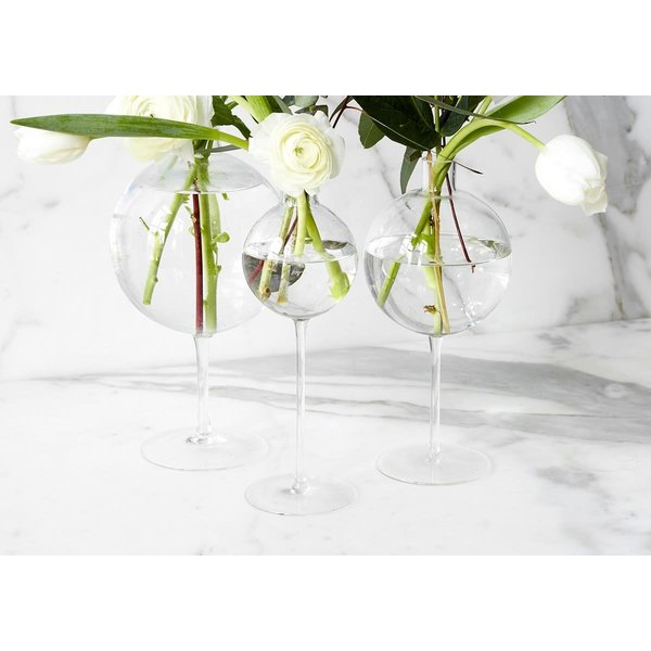 Clear Wine Glass Vase