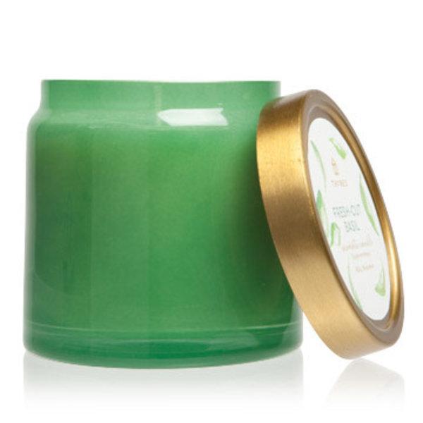 Fresh Cut Basil Glass Jar Candle