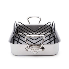 Mauviel M'Cook Roasting Pan and Rack