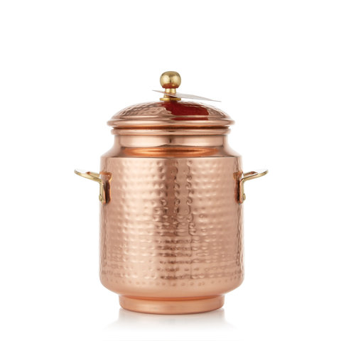 Simmered Cider Tall Copper Pot Candle