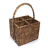 Rattan 4-Section Caddy