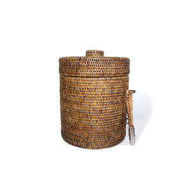 Lined Rattan Ice Bucket