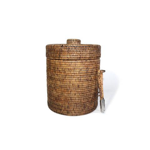 Lined Rattan Ice Bucket