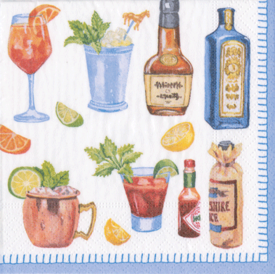 Party Themed Cocktail Napkins & Guest Towels