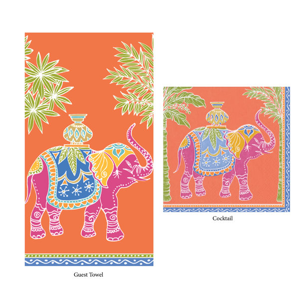 Chinoiserie Style Cocktail Napkins & Guest Towels