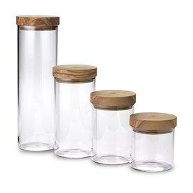 Olivewood Glass Jar