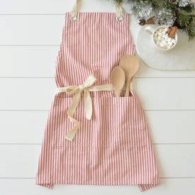 Red Ticking Apron